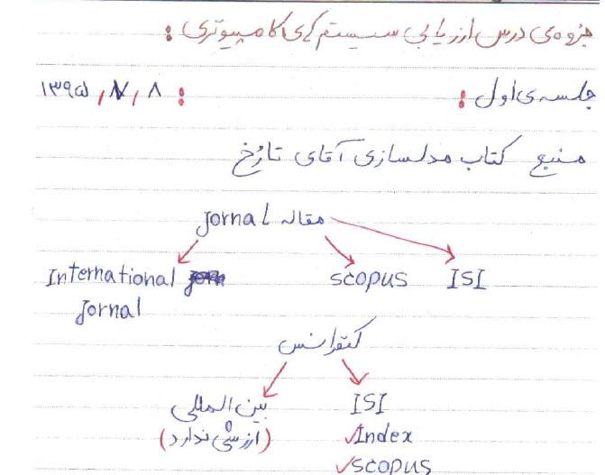 جزوه دستنویس و تایپی درس ارزیابی سیستم های کامپیوتری، دکتر محسن محرمی